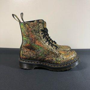 Dr. Martens 1460 Pascal Gold Crackle Boots.